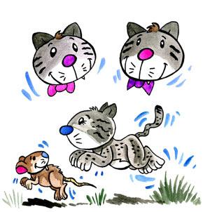 Téléchargement Comptine 3 chats sur le tapis