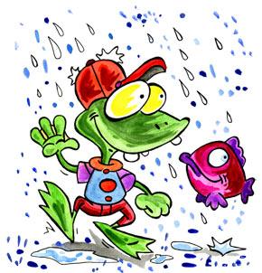 Téléchargement Comptine Il pleut, il mouille, c'est la fête à la grenouille