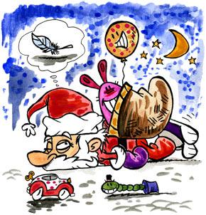 Téléchargement Comptine Le père Noël est fatigué !