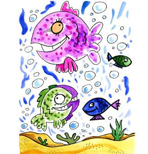 Téléchargement Comptine Les petits poissons dans l'eau