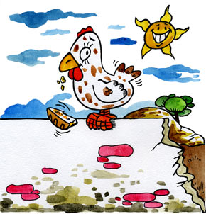 Téléchargement Comptine Une poule sur un mur